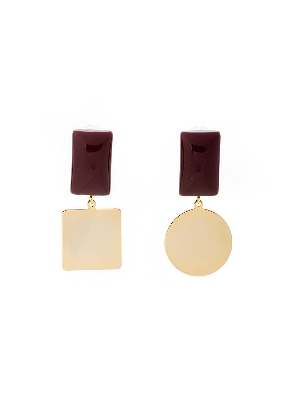 Pave Earring (burgundy)