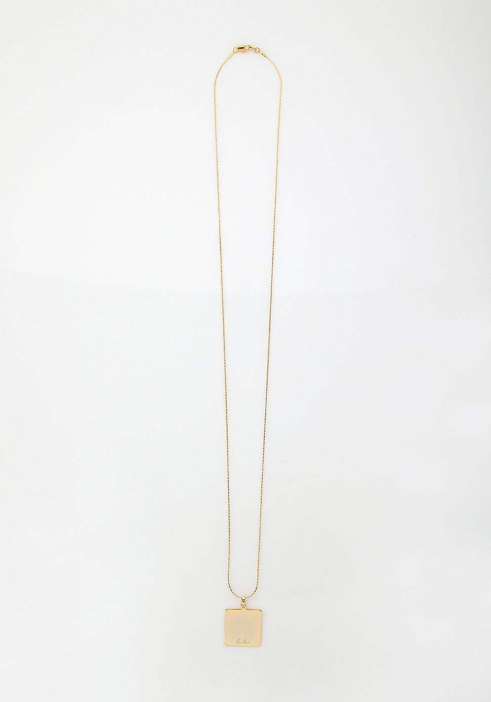Bell Long Necklace (square)