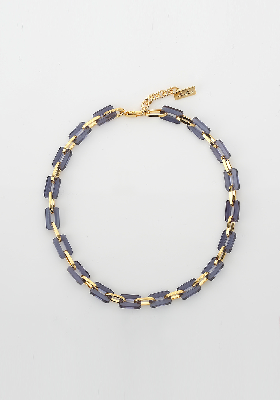 Acrylic Chain Necklace (navy)