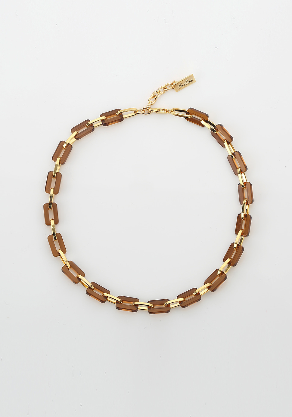 Acrylic Chain Necklace (brown-2 length)