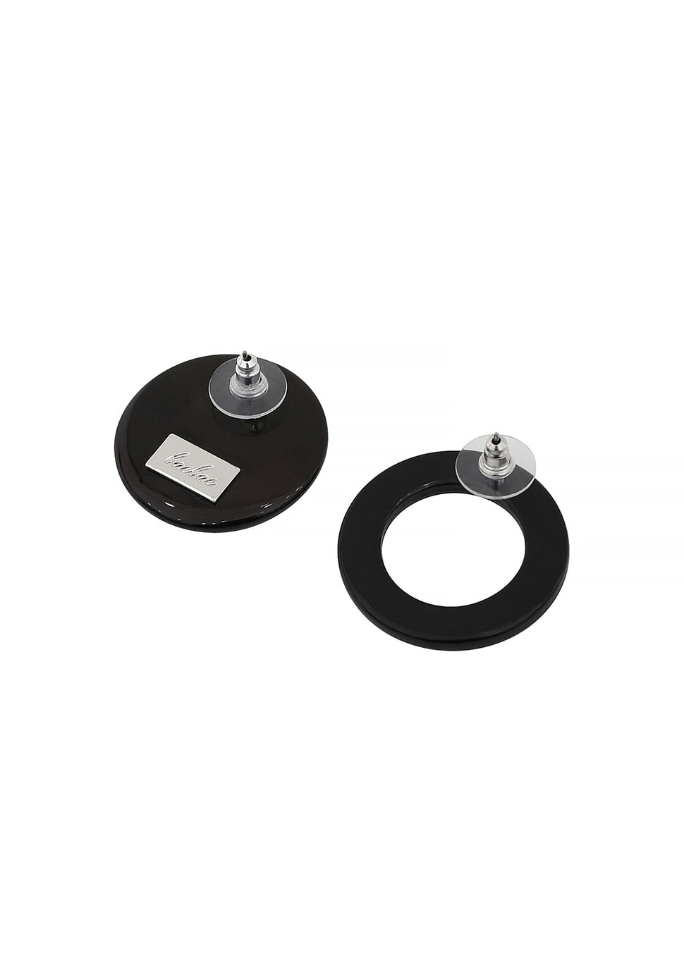 Unbalance Moon Earring (black)