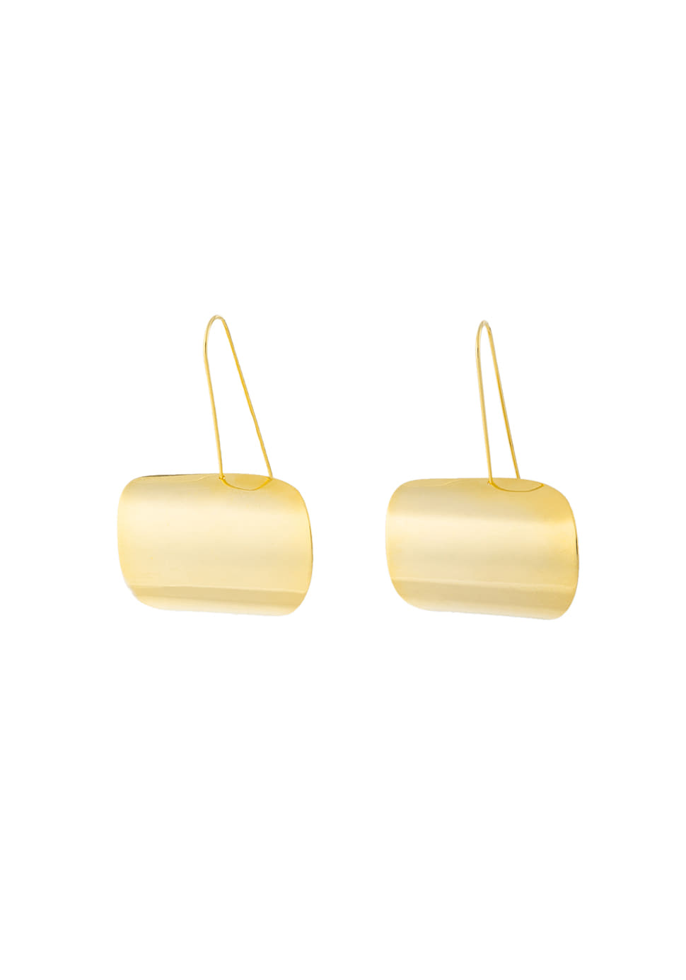 Shield Shape Earring (gold)