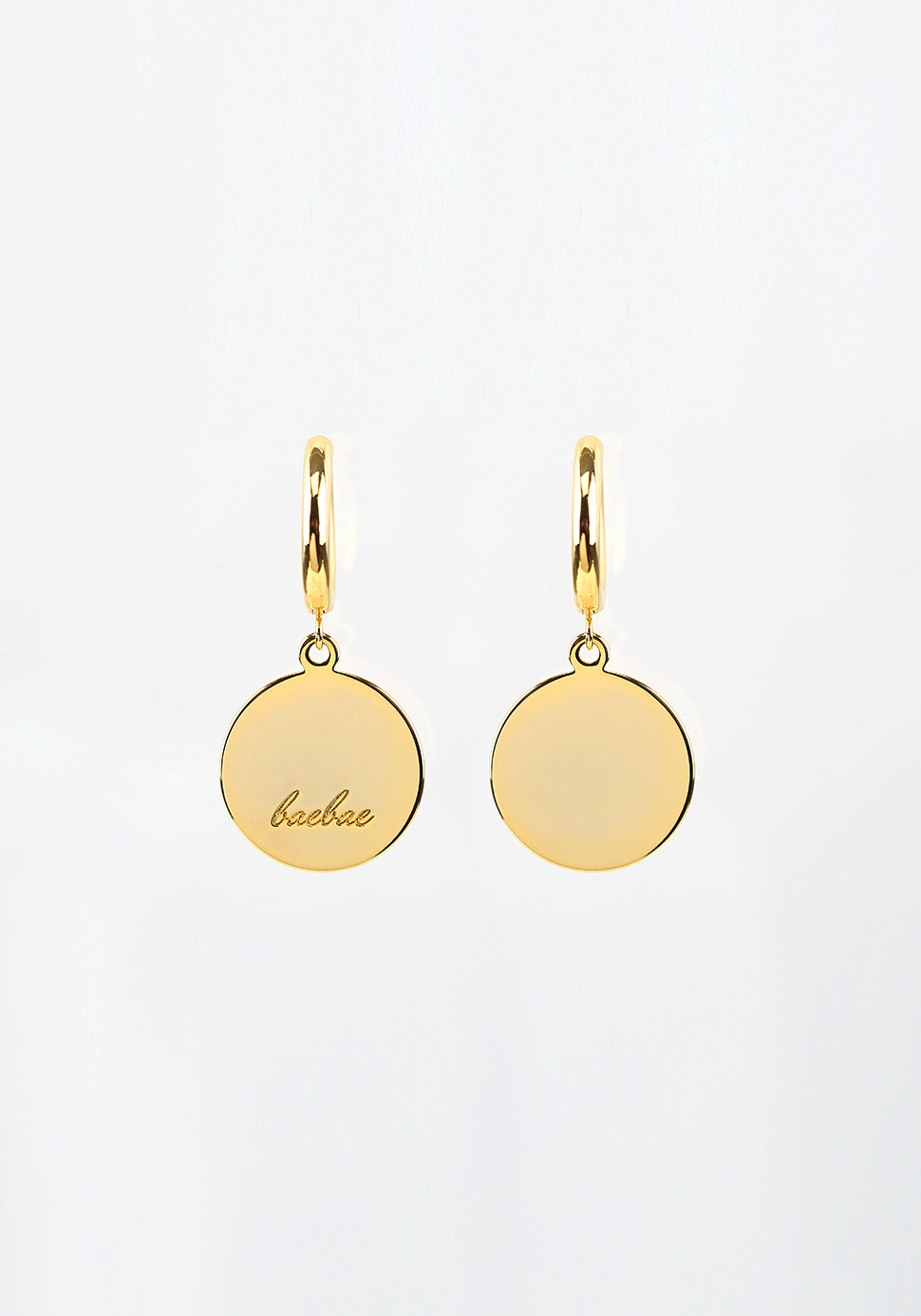 Bell Hoop Earring (circle/gold)