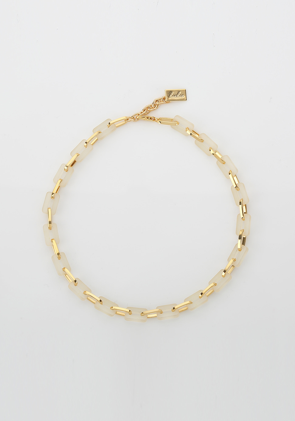 Acrylic Chain Necklace (ivory-2 length)