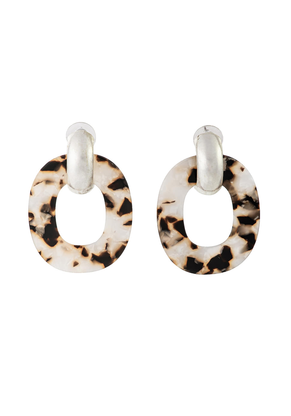Ellipse Earring (leopard)
