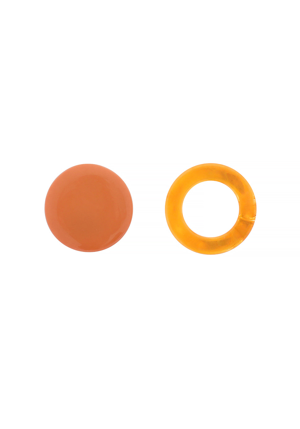 Unbalance Moon Earring (orange)