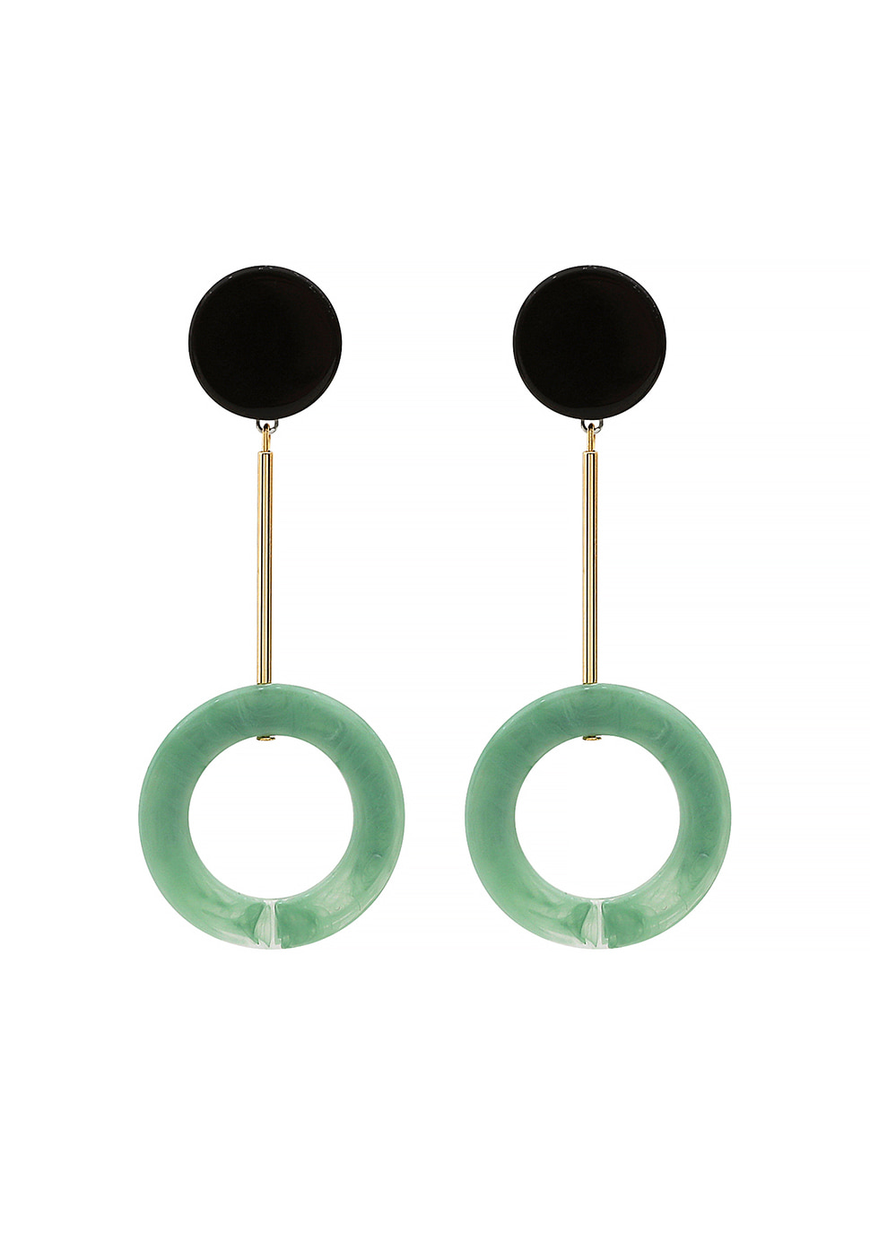 Mint Arc Earring